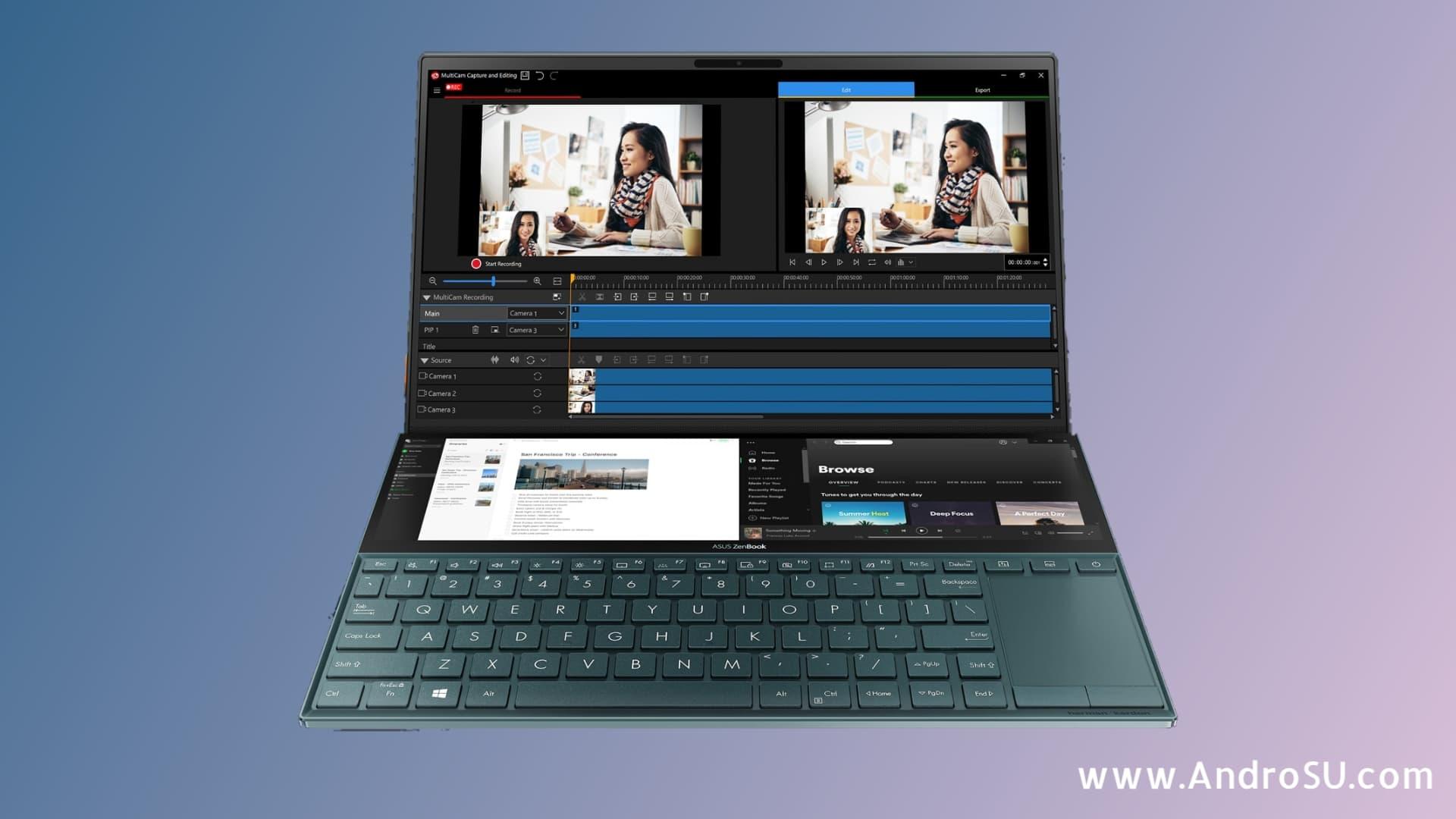 Asus Zenbook Duo, Asus Dual Screen Laptop, Asus Zenbook UX481FL